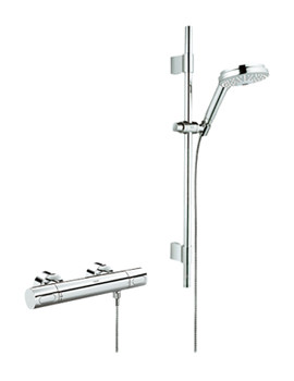 Grohe Grohtherm 3000 Cosmo Thermostatic Shower Mixer With Kit - 34275000