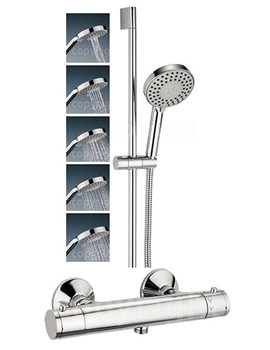 Crosswater Kai Lever Thermostatic Exposed Valve With 5 Mode Shower Kit