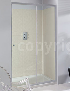 Edge Framed Single Shower Slider 1100mm - ESLSC1100