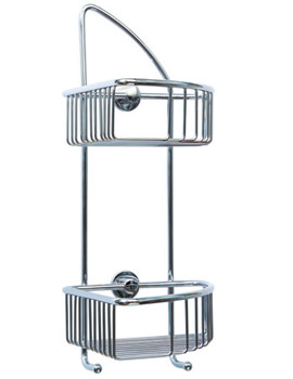 Red Dot Coorb Double Tier Corner Shower Caddy