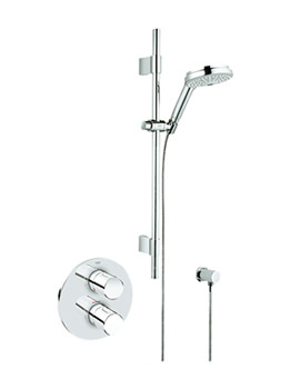 3000 Cosmo BIV Thermostatic Shower Mixer With Kit - 34278000