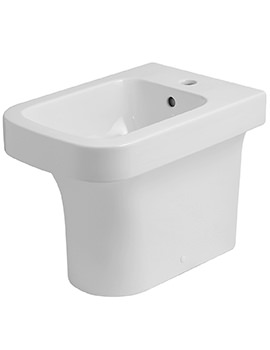 Tulip Floor Standing 1 TH Back To Wall Bidet 360 x 520mm White