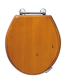 Oval Toilet Seat With Standard Hinge - Natural Oak