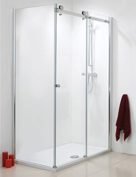 Frame-less Single Slider Shower Door 1200mm - SE085