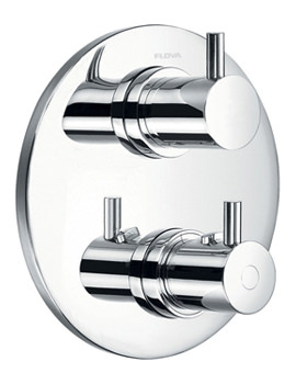 Levo Round Trim Concealed Thermostatic Shower Valve With 2 Way Diverter