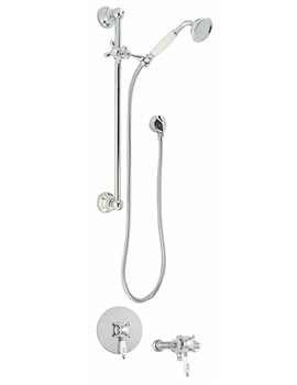 Georgian Concentric Thermostatic Shower Valve With 1 Function Kit