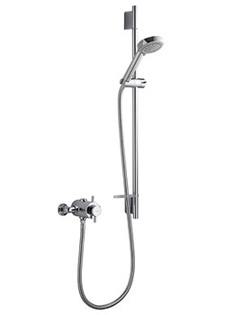 DL Thermostatic Exposed Shower Valve With Harmony Head Kit