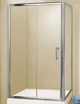 QX Chrome 1200 x 900mm Slider Shower Door