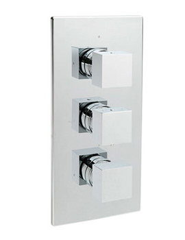 Vespa Concealed Thermostatic 3 Way Diverter Shower Valve