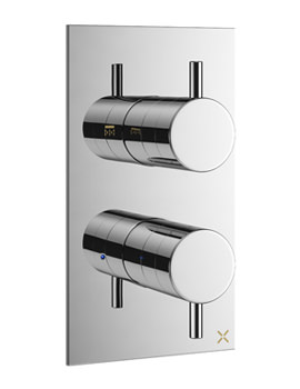 Crosswater Mike Pro Chrome Single Outlet Thermostatic Shower Valve