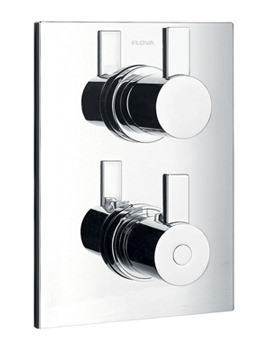 Flova Str8 Concealed Thermostatic Shower Mixer Valve