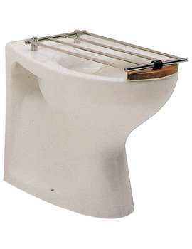 Nile Back-To-Wall Slop Hopper With Hardwood Rim And Bucket Grating
