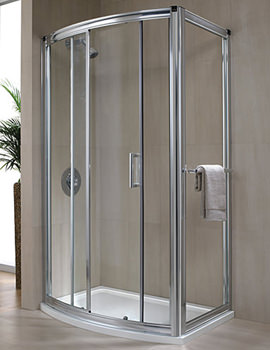 Hydr8 Bow Sliding Shower Door 1200mm - H88501CP