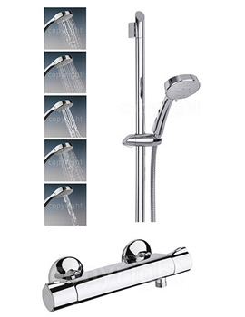 Touch Thermostatic Exposed Valve With 5 Mode Shower Kit