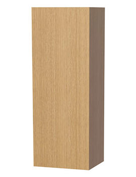 New York Oak Single Door Storage Cabinet 400 x 1111mm