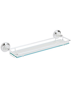 Heritage Clifton Glass Shelf Chrome ACC08