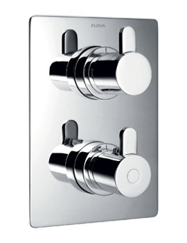 Flova Essence Concealed Thermostatic Shower Mixer With Shut Off Valve