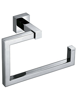 Square Wall Mounted Towel Ring 200mm - SQU-181