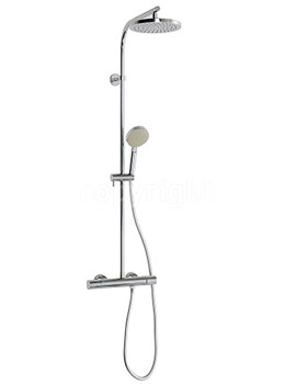 Curve Cool Touch Thermostatic Shower Valve With Kit - RM553WC
