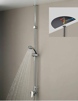 Jute Mini Twinline Thermostatic Shower Valve - JU MTLSHX C