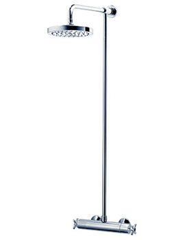 Unichrome Mersey Thermostatic Shower With Fixed Head-UNMETHBMFH