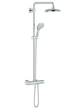 Power And Soul Thermostatic Shower Set With Fixed Head And Handset