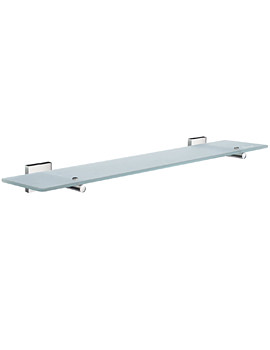 House 600mm Frosted Glass Bathroom Shelf