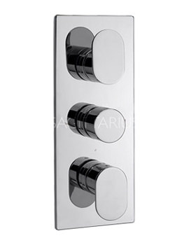 Plaza Concealed Thermostatic Shower Valve With 3 Way Diverter