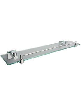 Atlanta Glass Shelf With Guard Rail 500mm - 8802C