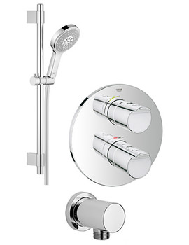 Grohtherm 2000 Power And Soul Shower Solution Pack 1