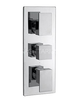Related Sagittarius Blade Concealed Thermostatic Shower Valve With 3 Way Diverter