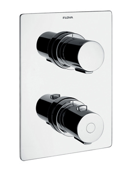 Flova Annecy Concealed Thermostatic Shower Mixer With Shut Off Valve