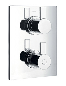 Flova Str8 Concealed Thermostatic Shower Valve With 2 Way Diverter