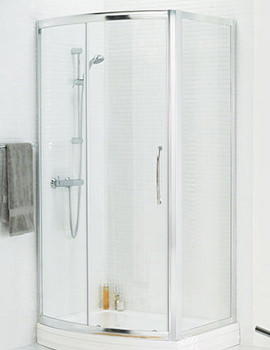 Lakes Classic Bow Fronted Slider Door 1200 x 1850mm Silver