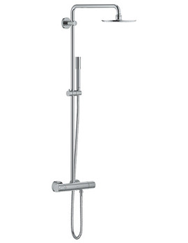 Grohe Spa Rainshower Shower System With Thermostat Chrome - 27032001