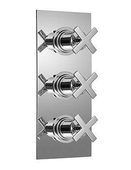 Tonic Concealed 3 Handle Thermostatic Shower Valve - TON-128B-3-4