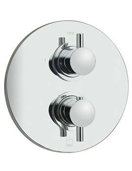 Celsius Concealed 2 Outlet 2 Handle Thermostatic Shower Valve