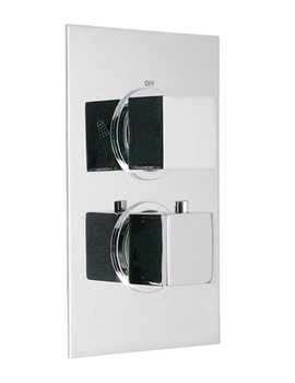 Mix Concealed 2 Outlet Thermostatic Shower Valve