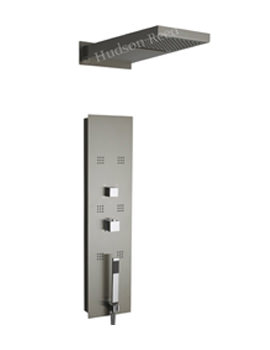 Interval Thermostatic Shower Panel And Head