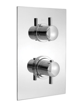 Related Vado Celsius 2 Outlet 2 Handle Thermostatic Shower Valve - CEL-148B-2-SQ