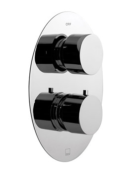 Soho 2 Outlet 2 Handle Thermostatic Shower Valve With Diverter