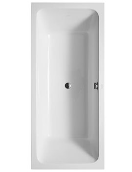 Duravit D-Code 1800x800mm With Support Frame - Central Outlet