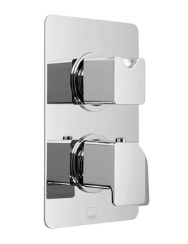 Phase Concealed 2 Handle Thermostatic Valve With Diverter - 2 Outlet