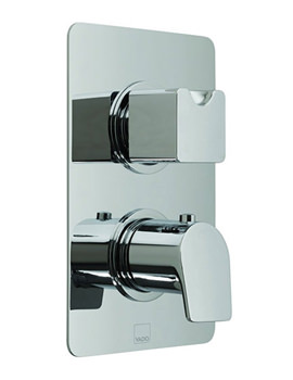 Photon Concealed 2 Handle Thermostatic Valve With Diverter - 2 Outlet