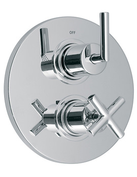 Elements Air Concealed 2 Outlet 2 Handle Thermostatic Shower Valve