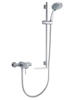Element SLT Exposed Valve Thermostatic Mixer Shower Chrome