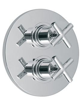 Elements Water Chrome 2 Outlet Concealed Thermostatic Shower Valve