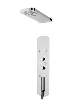 Interval Recessed Thermostatic Shower Panel - Chrome