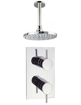 Kai Lever Thermostatic Concealed Valve With Ceiling Shower Head