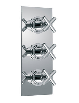 Elements Concealed 3 Handle Thermostatic Shower Valve - ELE-128B